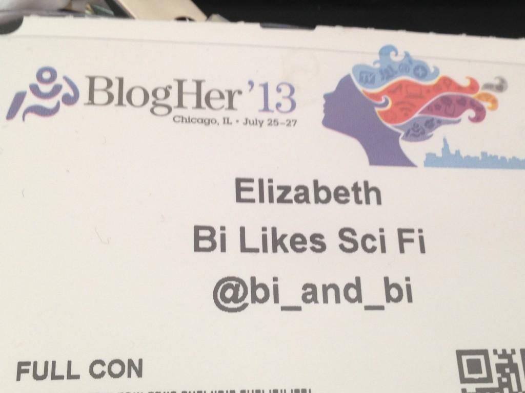 BlogHer conference badge