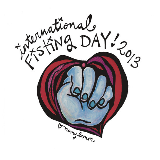 fisting day sticker
